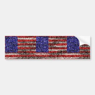 ゴッホの米国の旗 バンパーステッカー