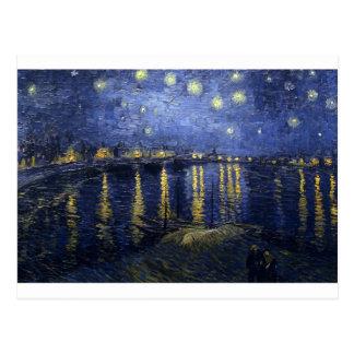 ゴッホの絵画: 星明かりの夜ゴッホローヌ ポストカード