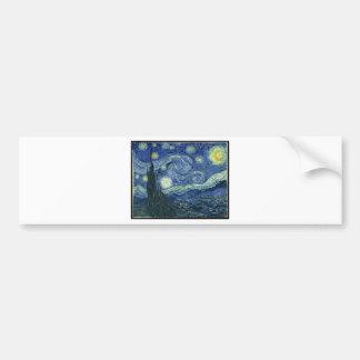 ゴッホの絵画: 星明かりの夜ゴッホ バンパーステッカー