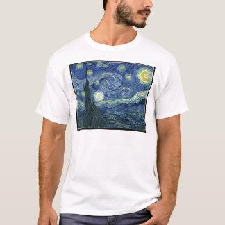 ゴッホの絵画: 星明かりの夜ゴッホ Tシャツ