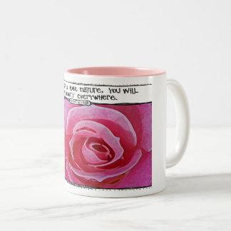 ゴッホの自然の引用文のばら色のマグ ツートーンマグカップ