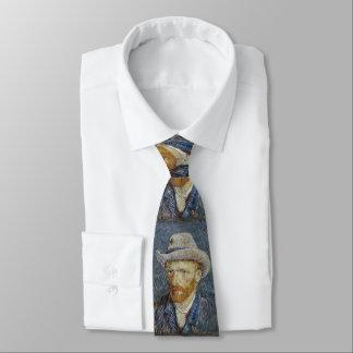 ゴッホの自画像の灰色のフェルトの帽子の絵画の芸術 ネクタイ