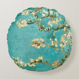 ゴッホの花のアーモンド木 ラウンドクッション