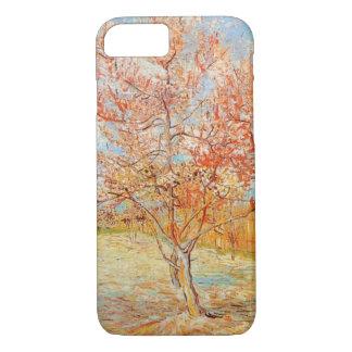 ゴッホの花のiPhone 7の場合のピンクのモモ木 iPhone 8/7ケース