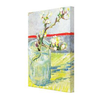 ゴッホの芸術、ガラスの活気付くアーモンドの枝 キャンバスプリント