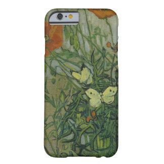 ゴッホの蝶およびケシのヴィンテージのファインアート iPhone 6 ベアリーゼアケース
