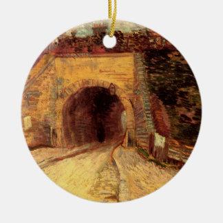 ゴッホの道路の地下道、陸橋、ファインアート セラミックオーナメント