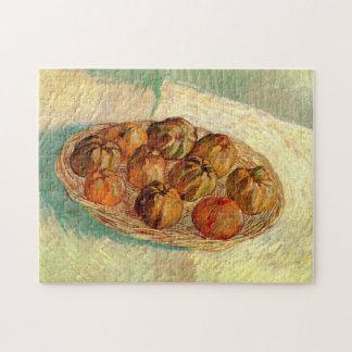 ゴッホの静物画のバスケットのりんごのヴィンテージのファインアート ジグソーパズル