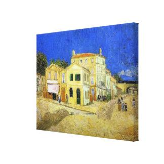 ゴッホの黄色い家(Arlesのヴィンチェンツォの家) キャンバスプリント