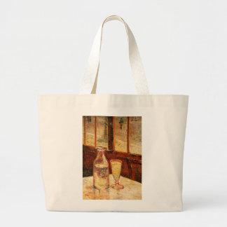 ゴッホの「アブサン及びCarafe」ののガラストートバック ラージトートバッグ