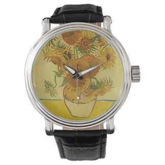 ゴッホの「ヒマワリ」の腕時計 腕時計