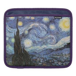 ゴッホのiPadの袖の星明かりの夜 iPadスリーブ