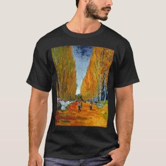 ゴッホのlallee desのalyscampsのゴッホのlallee des tシャツ