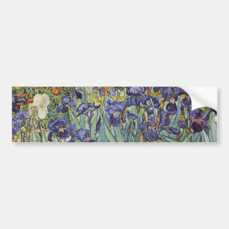 ゴッホは印象派の花を絞ります バンパーステッカー