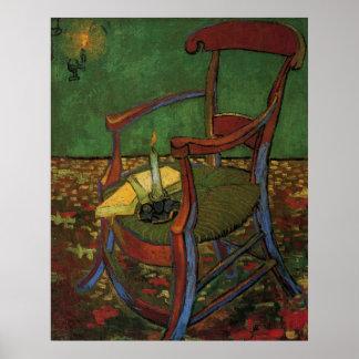ゴッホポール・ゴーギャンの肘掛け椅子、ヴィンテージの芸術 ポスター