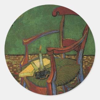 ゴッホポール・ゴーギャンの肘掛け椅子、ヴィンテージの芸術 ラウンドシール
