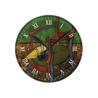 ゴッホポール・ゴーギャンの肘掛け椅子、ヴィンテージの芸術 ラウンド壁時計