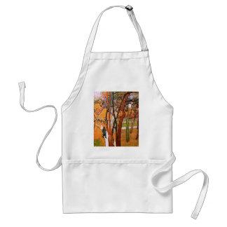 ゴッホ歩行: 落ちる葉、ヴィンテージの芸術 スタンダードエプロン