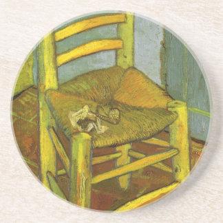 ゴッホ著彼の管が付いているヴィンチェンツォの椅子 コースター