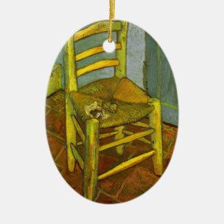 ゴッホ著彼の管が付いているヴィンチェンツォの椅子 セラミックオーナメント