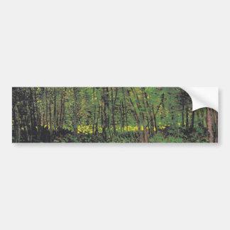 ゴッホ著木及び下草 バンパーステッカー