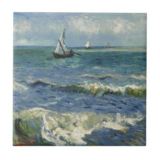 ゴッホ著海景のLesのSaintes Maries de laMer タイル