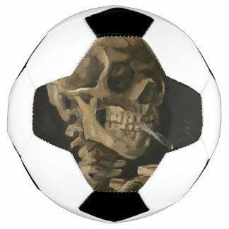 ゴッホ著非常に熱いタバコが付いている骨組スカル サッカーボール