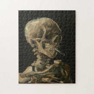 ゴッホ著非常に熱いタバコが付いている骨組スカル ジグソーパズル