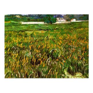 ゴッホ著Auversの小麦畑 ポストカード