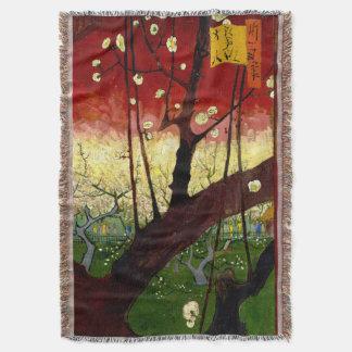 ゴッホ著Hiroshigeの後の花盛りのスモモの木 スローブランケット