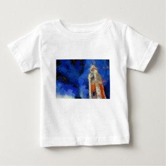 ゴッホ香港の時計台 ベビーTシャツ