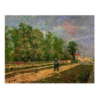 ゴッホ、パリ: 小作人、ヴィンテージの芸術が付いている道 ポストカード