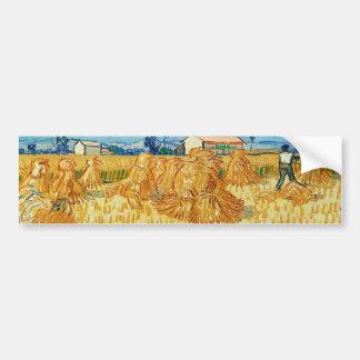 ゴッホ; プロバンスの収穫 バンパーステッカー