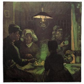 ゴッホ; ポテトの食べる人、ヴィンテージの印象主義 ナプキンクロス