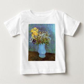 ゴッホ-ライラック、デイジーおよびアネモネが付いているつぼ ベビーTシャツ