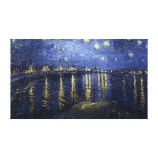 ゴッホ-ローヌ上の星明かりの夜 キャンバスプリント