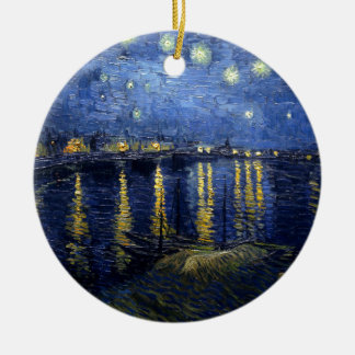 ゴッホ: ローヌ上の星明かりの夜 セラミックオーナメント