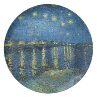 ゴッホ: ローヌ上の星明かりの夜 プレート