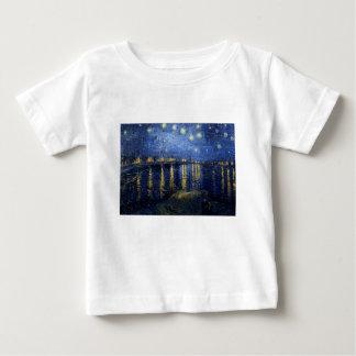 ゴッホ: ローヌ上の星明かりの夜 ベビーTシャツ