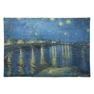 ゴッホ: ローヌ上の星明かりの夜 ランチョンマット