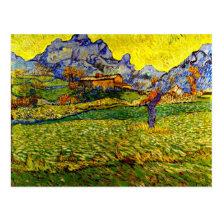 ゴッホ-山の草原 ポストカード
