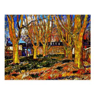 ゴッホ-平らな木の道 ポストカード