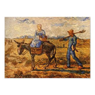 ゴッホ; 朝: 働くことを行く小作農のカップル カード
