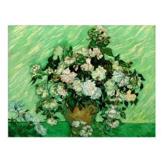 ゴッホ-白いバラ はがき