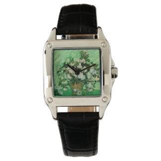 ゴッホ-白いバラ 腕時計