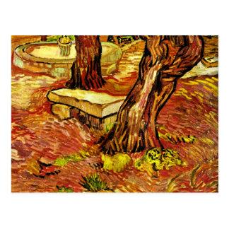 ゴッホ-石造りのベンチ ポストカード