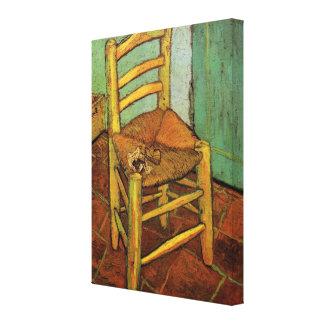 ゴッホ; 管、ヴィンテージの芸術が付いているヴィンチェンツォの椅子 キャンバスプリント