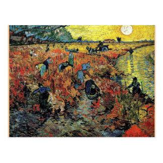 ゴッホ-赤いブドウ園 ポストカード