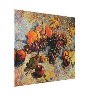 ゴッホ; 静物画のりんご、ナシ、レモン、ブドウ キャンバスプリント