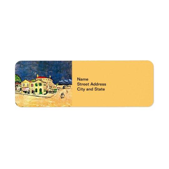 ゴッホ: 黄色い家(ヴィンチェンツォの家) ラベル
